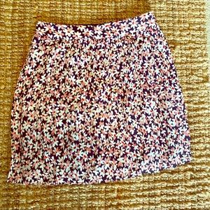 J Crew floral print pleated skirt